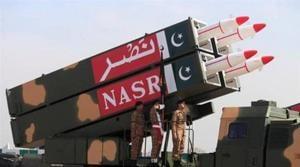 File photo of Pakistan's NASR missile launcher.(Reuters)