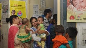 Bageshwar has recorded the highest child sex ratio of 1,036, followed by 978 in Nainital and 958 in Rudraprayag. Meanwhile, Haridwar is at bottom with a child sex ratio of 912.(HT File)
