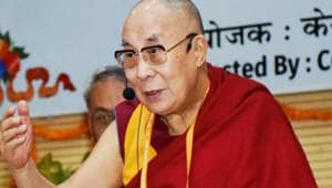 Dalai Lama had met Naren Chandra Das for the first time in 58 years during the 'Namami Brahmaputra' river festival organised by the Assam government in 2017.(PTI File Photo)