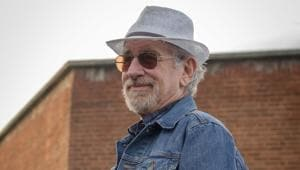 This cover image released by Warner Bros. Pictures shows director Steven Spielberg on the set of Ready Player One.(AP)