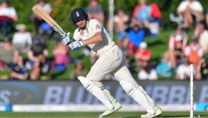 Jonny Bairstow in action during day one of the second Test between New Zealand and England at Hagley Oval in Christchurch on Friday.(AFP)