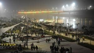 A view of the Gomti riverfront in Lucknow.(HT File Photo)