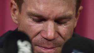 David Warner issued a tearful apology for his part in the ball-tampering scandal during the third Test between South Africa and Australia last weekend, but left a lot of questions unanswered as to his actual role in the episode.(AFP)