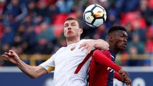 Edin Dzeko's goal salvaged a point from their Serie A clash against Bologna on Saturday.(REUTERS)