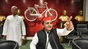 Samajwadi Party president Akhilesh Yadav said the BJP-led government in Uttar Pradesh was trying to defame and harass its political opponents.(PTI File Photo)