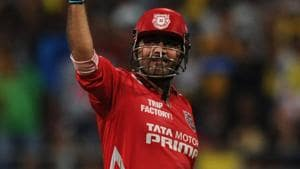 Kings XI Punjab announced on Sunday that retired cricketer Virender Sehwag will take the field in IPL 2018.(HT Photo)