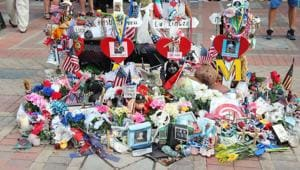 A memorial for bombing victims in Boston. The terrorist attack took place during famous Boston Marathon on April 15, 2013.(Shutterstock)