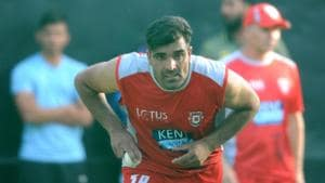 Manzoor Dar was bought by Kings XI Punjab for IPL 2018 at his base price of Rs 20 lakh.(Photo: Anil Dayal/Hindustan Times)
