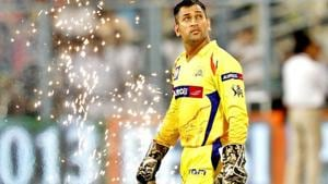 MS Dhoni is returning to Chennai Super Kings after the franchise's return from a two-year IPL ban.(HT file photo)