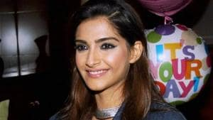 Sonam's sports luxe look gave us serious flashbacks to the similar-looking outfit Kim wore in August. Scroll for pictures. (PTI File Photo)