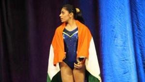 Aruna Reddy failed to qualify for the final round in the 2018 Commonwealth Games gymnastics after having secured the bronze in the World Cup.(Twitter)