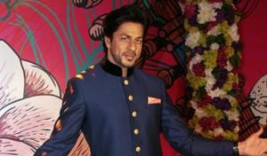 Wax statute of Shah Rukh Khan was unveiled at Madame Tussauds in the Capital.(Photo: Shivam Saxena/ HT)