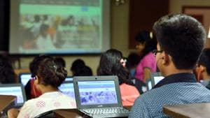 It points out that the overall learning curve for students, especially in mathematics and physics, from first to third year, is very steep.(Prashant Waydande/HT File Photo)