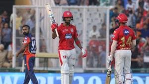 KL Rahul in action during match two of the 2018 Indian Premier League (IPL) between the Kings XI Punjab and Delhi Daredevils at the Punjab Cricket Association IS Bindra Stadium in Mohali. Get highlights of Kings XI Punjab (KXIP) vs Delhi Daredevils (DD) Indian Premier League (IPL) 2018 match here(BCCI)