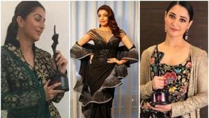 Bhumika Chawla, Kajal Aggarwal and Tamannaah Bhatia won awards in different categories at the Apsara Awards 2018.(Bhumika_chawla_t/Instagram   kajalaggarwalofficial/Instagram   Tamannaahspeaks/Instagram)