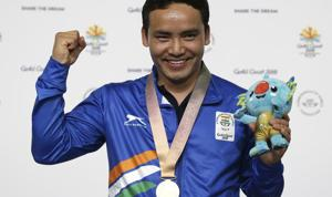 Jitu Rai reached the final of the 10m air pistol event with a score of 570, 14 points behind teammate Om Prakash Mitharwal. Rai, however, stepped it up on the grand stage when it mattered to bag gold while Mitharwal grabbed bronze.(AP)