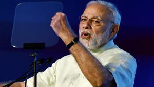 Prime Minister Narendra Modi addresses the 10th edition of India's Mega Defence Exhibition — DefExpo 2018 at Tiruvidandhai, on the outskirts of Chennai, Tamil Nadu, on Thursday.(PTI Photo)