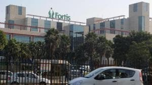 A case against four doctors of the Fortis Hospital in Gurgaon was registered on February 20 at Sushant Lok police station on the complaint of the victim's husband Mukesh Ghai.(Parveen Kumar/HT File Photo)
