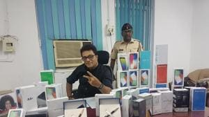 Some of the goods that were seized.(HT Photo)