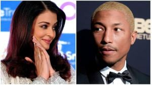 Aishwarya Rai Bachchan and Pharrell Williams feature together on the cover of Vogue India.