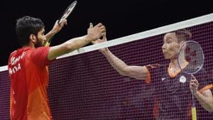 Kidambi Srikanth lost to Malaysia's Lee Chong Wei in the men's singles badminton final at the 2018 Commonwealth Games in Gold Coast today. Get highlights of the Kidambi Srikanth vs Lee Chong Wei, 2018 Commonwealth Games badminton men's singles final, here.(PTI)