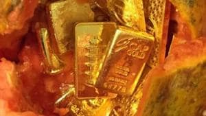 In Thiruvananthapuram, customs officialsintercepted a passenger who arrived by an Emirates Flight andrecovered seven gold biscuits totally weighing 816.38 grams.(File photo)