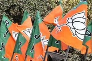 BJP flags party head quarter in New Delhi.(HT File Photo)
