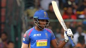 Sanju Samson's breathtaking strokeplay formed the cornerstone of Rajasthan Royals' 19-run win over Royal Challengers Bangalore in a high-scoring IPL encounter at the M Chinnaswamy Stadium on Sunday.(AFP)