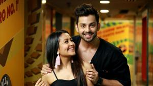 Singer Neha Kakkar and actor Himansh Kohli say that they 'adore each other' but there's nothing romantic between them.(Amal KS/HT Photo)