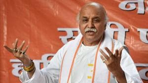 Pravin Togadia feels those in power have forgotten the promise of building Ram temple at the disputed site in Ayodhya.(PTI File Photo)