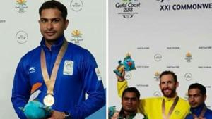 Meerut's Ravi Kumar had a bronze medal in shooting at Commonwealth Games in Gold Coast.(HT Photo)