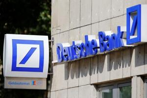 A logo of a branch of Germany's Deutsche Bank is seen in Cologne, Germany, July 18, 2016. REUTERS/Wolfgang Rattay/Files(Reuters File Photo)