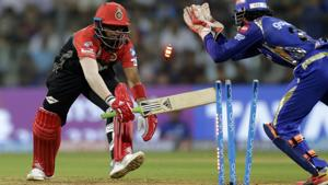 Royal Challengers Bangalore were beaten by Mumbai Indians in their Indian Premier League (IPL) 2018 match in Mumbai on Tuesday.(AP)