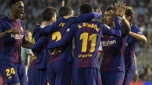 Barcelona are now on 83 points after 33 La Liga games of the season.(AP)