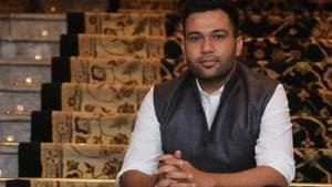 Ali Abbas Zafar posing for Hindustan Times at an event in Delhi.(Manoj Verma/HT)