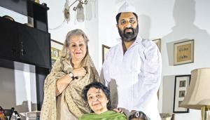 Standing: Syeda Hameed, Lokesh Jain; Seated: Zakia Zaheer and Rene Singh. The four are part of the musical on Old Delhi.(Sanchit Khanna/HT PHOTO)