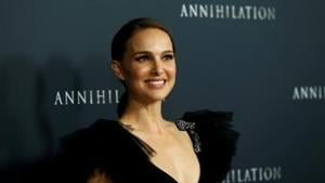 Natalie Portman poses at the premiere for Annihilation in Los Angeles.(REUTERS)
