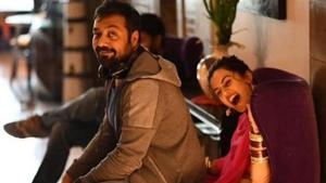 Anurag Kashyap and Taapsee Pannu on sets of Manmarziyaan.