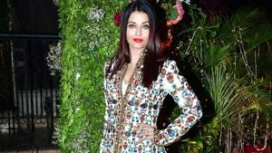 Aishwarya Rai Bachchan hit all the right notes in this intricate Rohit Bal anarkali. (IANS)