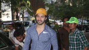 Varun Dhawan seen at a gym in Mumbai.(IANS)