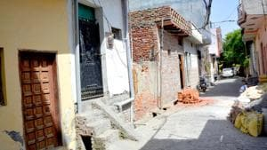 The locality in Arthala, Sahibabad, from where the girl was rescued by the police.(Sakib Ali/HT photo)