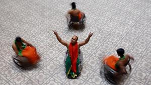 Dancers use specially-designed wheelchairs that are stronger and lighter.(Amal KS/HT Photo)