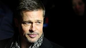 Actor Brad Pitt arrives at the premiere of the film Allied in Madrid, November 22, 2016.(Reuters)