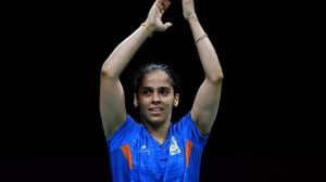 India's Saina Nehwal entered the women's singles semi-finals of the Badminton Asia Championships in Wuhan on Friday.(AFP)