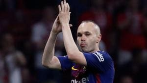 Andres Iniesta will leave FC Barcelona and is rumoured to join Chinese Super League side Chongqing Dangdai.(REUTERS)