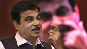 Union minister for Road Transport, Highways and Shipping Nitin Gadkari in New Delhi.(PTI Photo)
