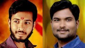 NCP workers Yogesh Ralebhat and Rakesh Ralebhat shot dead by bike-borne assailants in Ahmednagar.(ANI Photos)