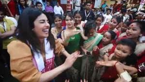 Priyanka Chopra surely needs a few more lessons in Bihu.(Instagram)