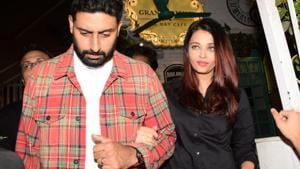 Actor Abhishek Bachchan with his wife Aishwarya Rai Bachchan.(IANS)