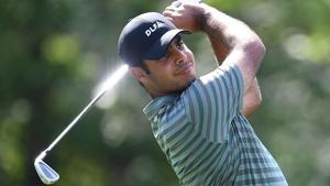 Shubhankar Sharma finished Tied-15 at the China Open golf tournament in Beijing on Sunday.(AFP)